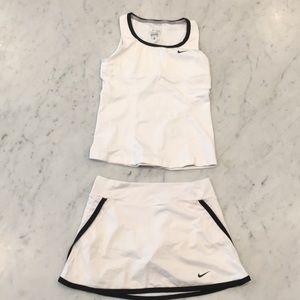 Girls Nike Tennis Skirt and Tank top